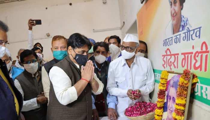 इंदिरा गांधी की जयंती पर PCC में आयोजित हुआ पुष्पांजलि कार्यक्रम, डोटासरा बोले...