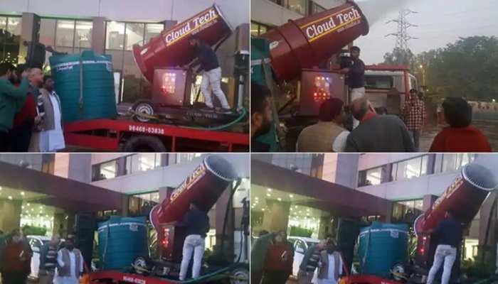 दिल्ली में प्रदूषण कम करने का प्रयास, PWD ने लगाए 23 एंटी स्मोग गन और 150 टैंकर