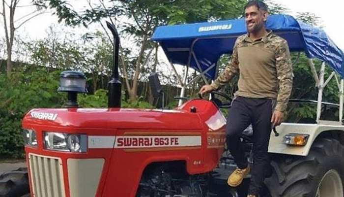 MS Dhoni is in new role from Cricket to farmer, he is growing Vegetables ans producing milk in his farm house in Ranchi