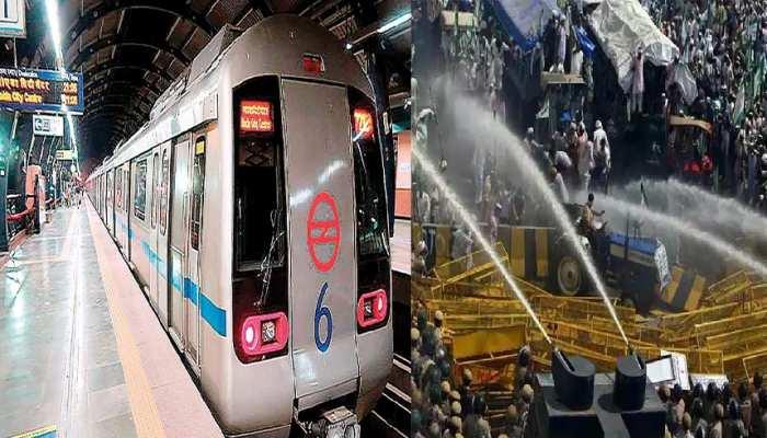 किसानों के प्रदर्शन का Delhi Metro पर बुरा असर, जानिये आज बदला हुआ शिड्यूल