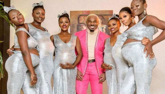 Nigerian Playboy Preety Mike made 6 girlfriends pregnant together
