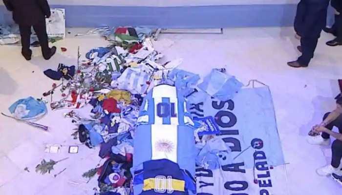 'Jardin de Paz' में होगा Maradona का अंतिम संस्कार, अंतिम दर्शन के लिए उमड़ा लोगों का सैलाब
