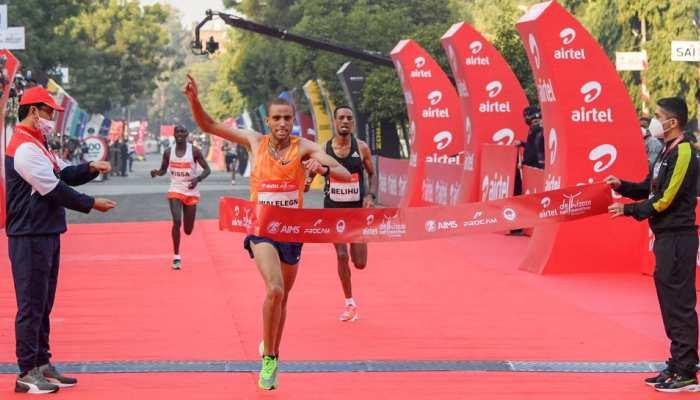 Airtel Delhi Half Marathon: Ethiopia के Amedework Walelegn बने विनर