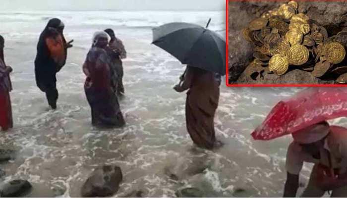 तूफान 'निवार' ने समुद्र से निकाला 'खजाना', बटोरने के लिए इकट्ठा हुए लोग