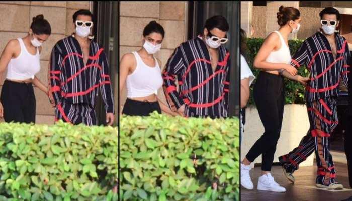 Deepika Padukone Siddhant Chaturvedi Ranveer Singh spotted on Gateway of India