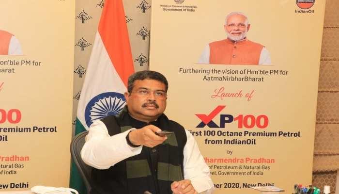 जयपुर: धर्मेंद्र प्रधान ने लांच किया IOCL द्वारा विकसित 100 ऑक्टेन प्रीमियम पेट्रोल