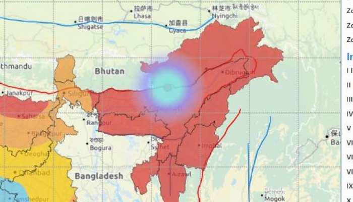 असम के तेजपुर में भूकंप के झटके, 3.4 दर्ज की गई है तीव्रता