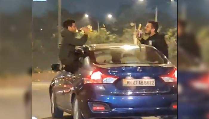चलती कार में शराब पीकर स्टंट कर रहे तीन लड़कों पर भड़के IPS,परिवार को भी आईना दिखाया