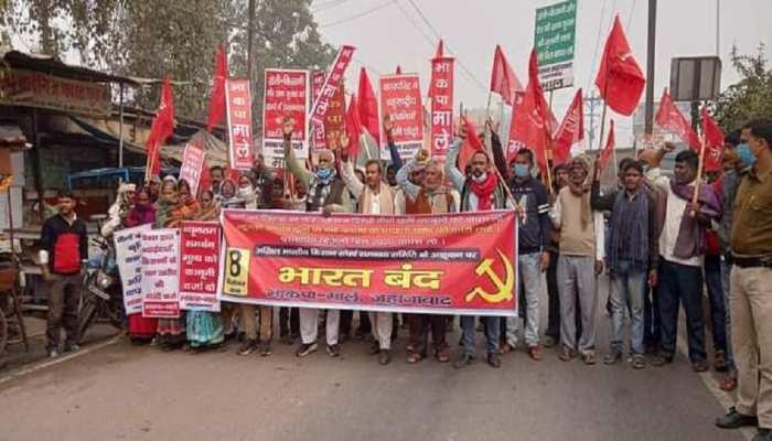 Farmer Protest: बिहार में कृषि कानून के खिलाफ 'Bharat Band' शुरू, ट्रेन-यातायात प्रभावित