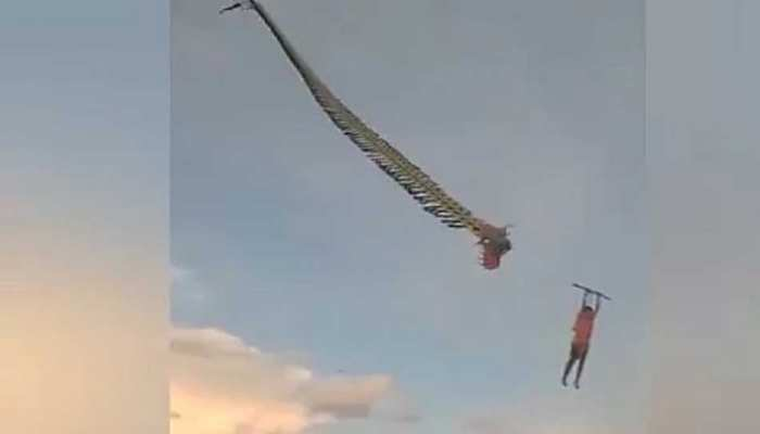 12 years old boy swept into the air by a kite, before plunging more than 30 feet to the ground