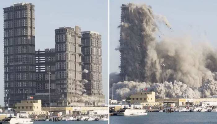 144 floor towers destroyed in 10 seconds in abu dhabi