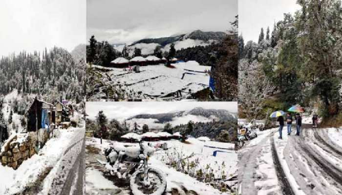 Uttarakhand snowfall covered whole state see the beautiful pictures uppp