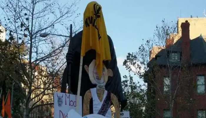 अमेरिका में खालिस्तानी समर्थकों ने किया गांधी प्रतिमा का अपमान, लगाए भारत विरोधी नारे