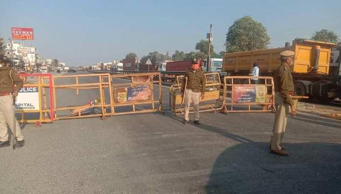 Farmers Protest: Jaipur-Delhi Highway पर एक साइड को किया गया बंद, Traffic Diverted