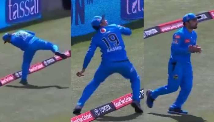 BBL 10: Rashid Khan ने पकड़ा हैरतअंगेज कैच, दंग रह गए सभी खिलाड़ी, देखें Viral Video