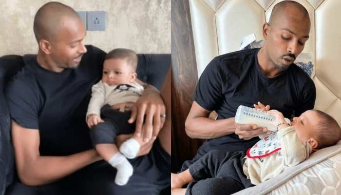 Hardik Pandya Meets His Son Agastya After 4 Months, see viral pictures