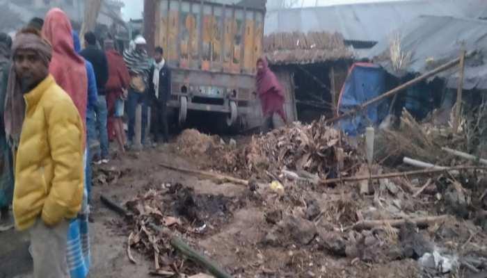 मधेपुरा: 10 चक्का ट्रक घर में घुसा, दो मासूम बच्चों की दर्दनाक मौत
