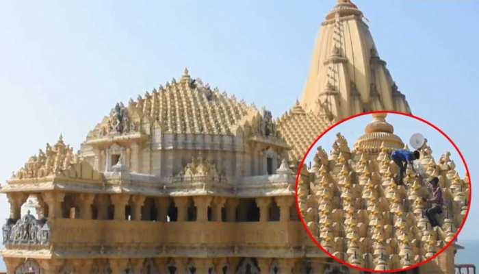 Gold plating of over 1400 Kalash of the Somnath Temple