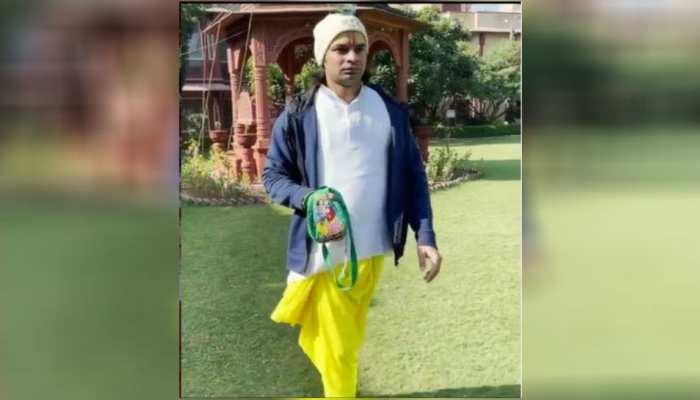 Lalu yadav elder son tejpratap yadav seen in new look pics went viral