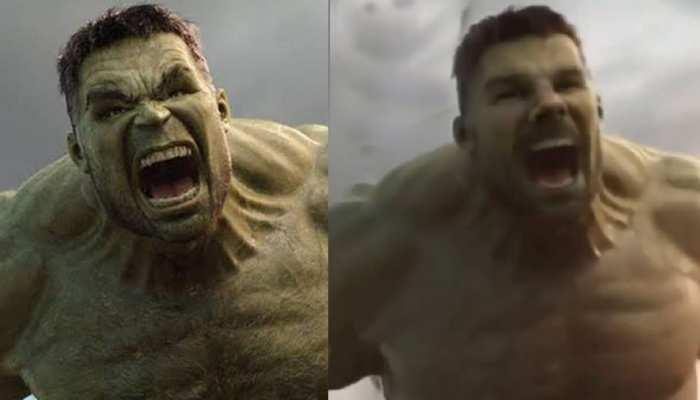 Christmas के मौके पर David Warner बने  हॉलीवुड सुपरहीरो Hulk, दिखाया अपना रौद्र रूप