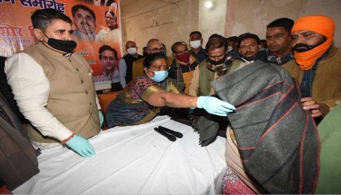 विश्व की सबसे बड़ी पार्टी BJP के संस्कार में है गरीबों की सेवा, हर कार्यकर्ता का धर्म- रेणु देवी