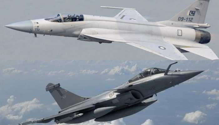 compression between pakistan s jf 17 and india s rafale