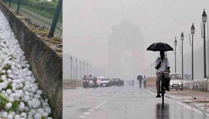 Delhi-NCR में बिगड़ा मौसम का मिजाज, सुबह गिरे ओले; कई राज्यों में बारिश के आसार