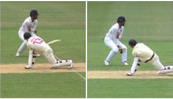 IND Vs AUS: Matthew Wade का स्वीप शॉट, एक नहीं दो बार Hanuma Vihari से टकराई गेंद
