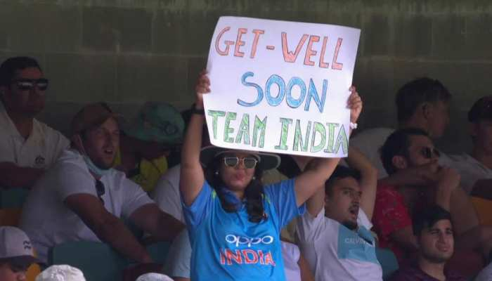IND vs AUS Brisbane Test : महिला दर्शक को हुई भारत के चोटिल खिलाड़ियों की फिक्र, कहा-'Get well Soon Team India'