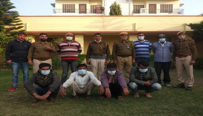 चौमूं में शातिर चोर गिरोह का हुआ पर्दाफाश, 4 गिरफ्तार