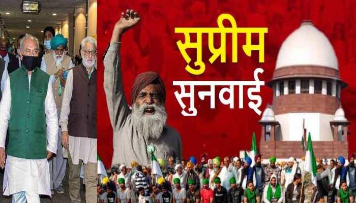 किसान आंदोलन पर Supreme Court में सुनवाई; कांग्रेस-शिवसेना का BJP सरकार पर निशाना