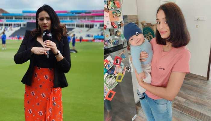 Cricket Anchor Mayanti Langer Son cute pics is really Heartwarming Stuart Binny