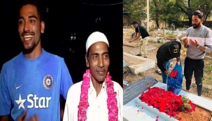 अपने मरहूम पिता Mohammed Ghaus की कब्र पर पहुंचकर इमोशनल हुए Mohammed Siraj