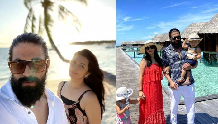 KGF star yash spend time with family at maldives see pics