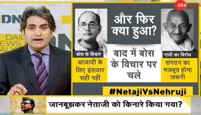 DNA ANALYSIS: जब एक तरफ अकेले खड़े थे Subhash Chandra Bose और दूसरी तरफ था नेहरू-गांधी का गठजोड़