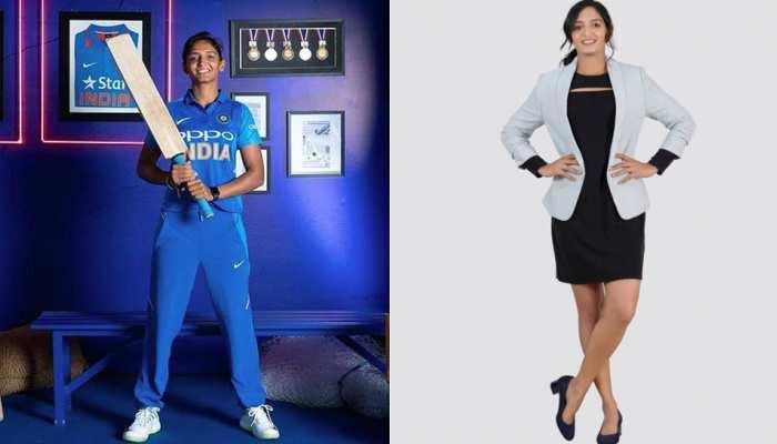 ग्लैमरस प्रोफेशनल लुक में नजर आईं क्रिकेटर Harmanpreet Kaur, फैंस को दिया खास मैसेज