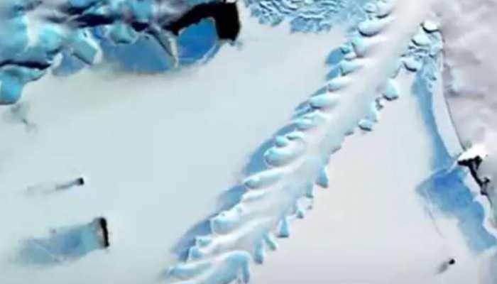 Antarctica में दिखी बर्फ की चादर से ढकी अजीब सी आकृति, वैज्ञानिक भी हुए परेशान
