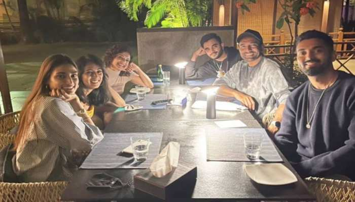 KL Rahul and Athiya Shetty spotted together on dinner night with robin uthappa and his wife