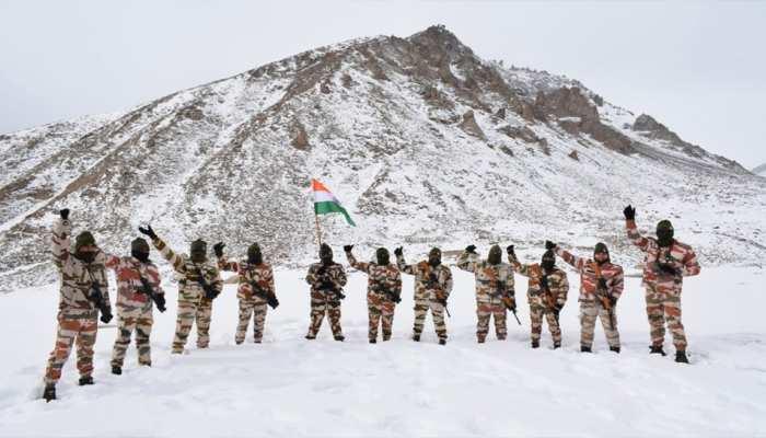ITBP celebrates Republic Day 2021 in ladakh at a high altitude Border Outpost