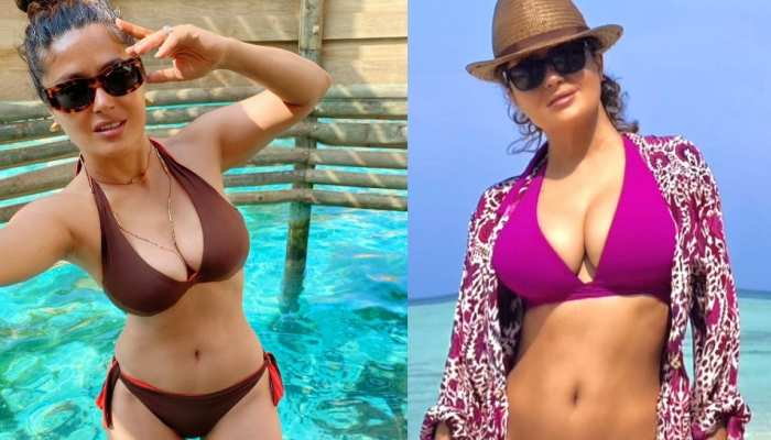 hollywood actress Salma Hayek Bikini Photos goes viral people say age is just a number