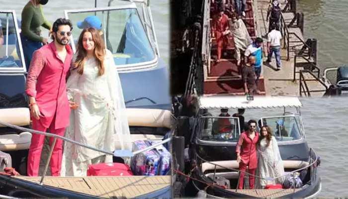 Newlyweds Varun Dhawan Natasha Dalal return to Mumbai from Alibaug