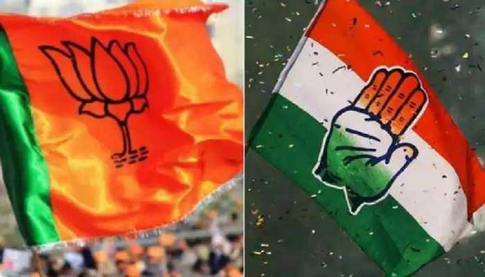 निकाय चुनाव: BJP-कांग्रेस के कार्यकर्ता हुए आमने-सामने, MP के साथ की धक्का-मुक्की