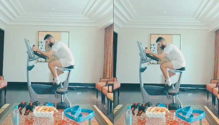 Virat Kohli ने अपने होटल रूम से शेयर किया वर्कआउट वीडियो, पंजाबी गानों के साथ जिम में बहा रहे हैं पसीना