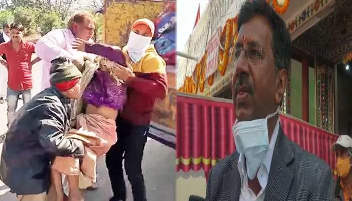 बेसहारा बुजुर्गों के साथ अमानवीय व्यवहार से दागदार हुई इंदौर की छवि, मंदिर पहुंच कलेक्टर ने भगवान से मांगी माफी