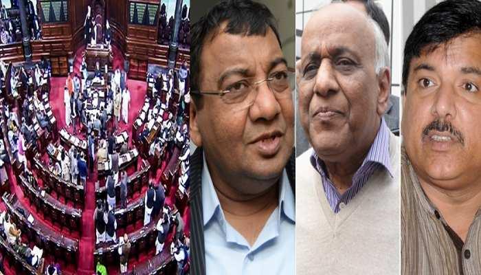 राज्यसभा में हंगामा करने पर तीनों AAP सांसद निंलबित