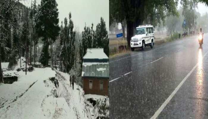 Weather Alert: दिल्ली-यूपी में बारिश और पहाड़ों पर बर्फबारी ने बदला मौसम का मिजाज, मसूरी में बिछी सफेद चादर