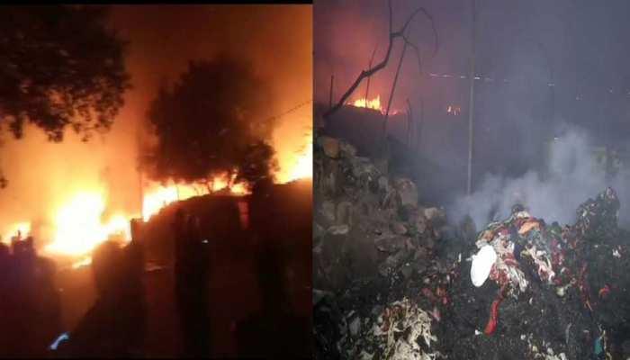 Delhi: फैक्ट्री में लगी भीषण आग, लाखों की संपत्ति हुई खाक, 186 झुग्गियां जलीं