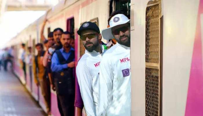 Local Train में नजर आए Virat Kohli और Rohit Sharma! जमकर उड़ रहा है दोनों का मजाक