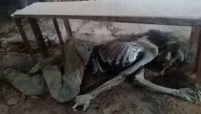 human skeleton found in a school classroom in varanasi uttar pradesh forensic team investigation see images viral photos