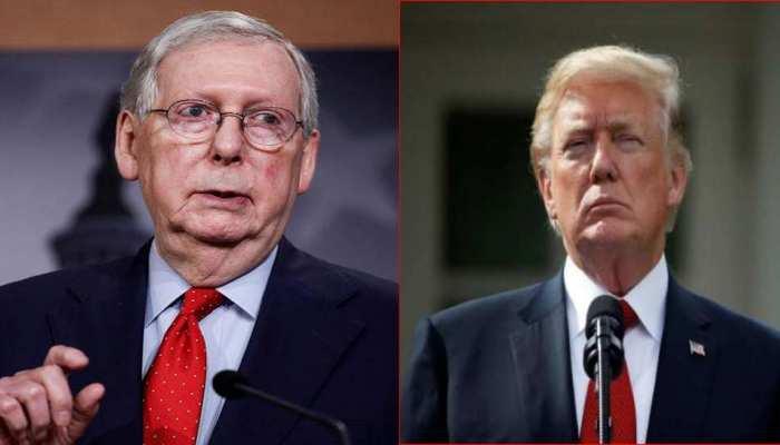 Trump impeachment Trial: रिपब्लिकन सीनेटर Mitch McConnell करेंगे पूर्व राष्ट्रपति के पक्ष में मतदान